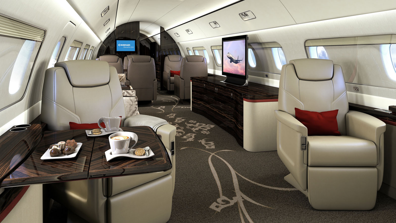 نتيجة بحث الصور عن Embraer Lineage 1000E